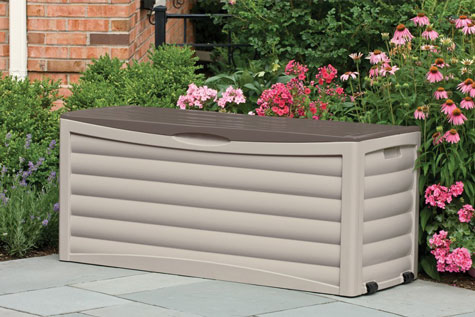 Suncast Patio Storage Box 103 Gallon