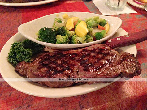 14-ounce cut of New York Strip Steak at Colorado's Steakhouse